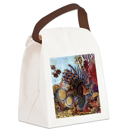 Ocean Window Canvas Lunch Bag