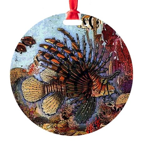 Ocean Window Round Ornament