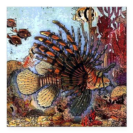 "Ocean Window Square Car Magnet 3"" x 3"""
