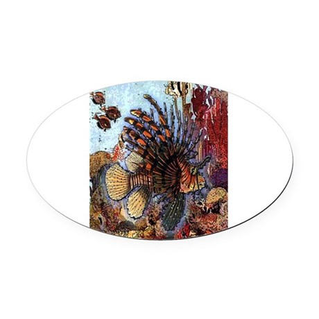 Ocean Window Oval Car Magnet