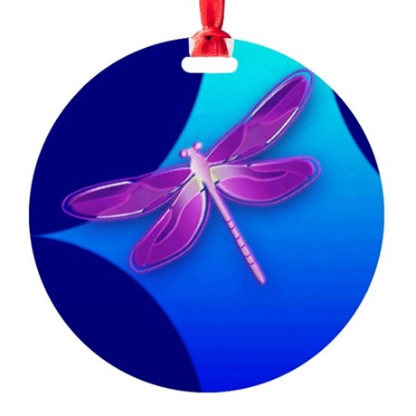 dragonfly22a.jpg Round Ornament