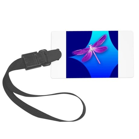 dragonfly22a.jpg Large Luggage Tag