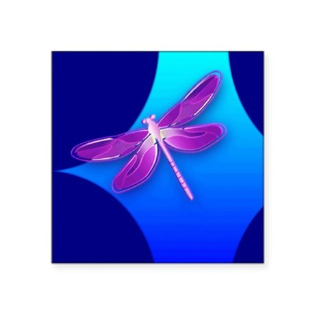 dragonfly22a.jpg Square Sticker 3&quot; x 3&quot;