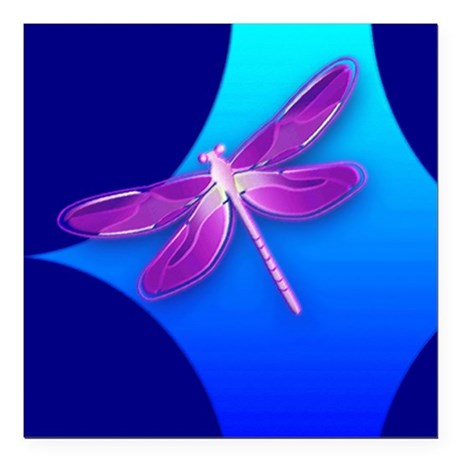 dragonfly22a.jpg Square Car Magnet 3&quot; x 3&quot;
