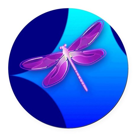 dragonfly22a.jpg Round Car Magnet