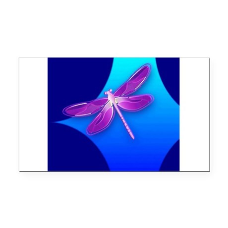 dragonfly22a.jpg Rectangle Car Magnet