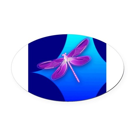 dragonfly22a.jpg Oval Car Magnet