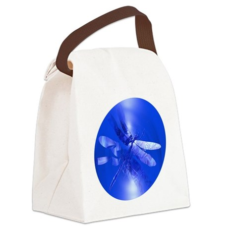 dragonfly11clk8.jpg Canvas Lunch Bag