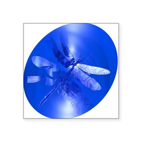 "dragonfly11clk8.jpg Square Sticker 3"" x 3"""