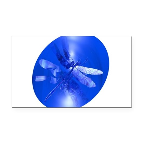 dragonfly11clk8.jpg Rectangle Car Magnet