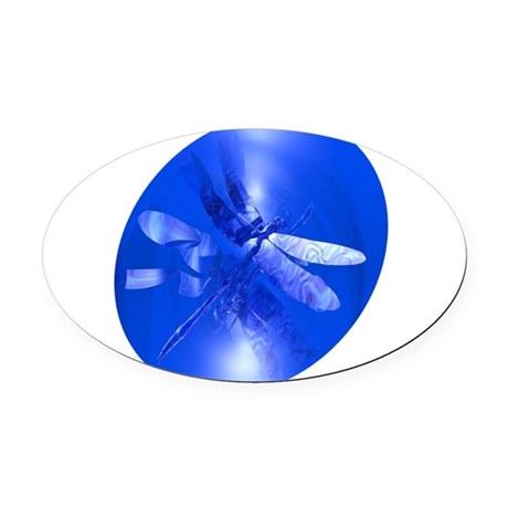dragonfly11clk8.jpg Oval Car Magnet