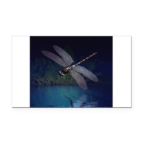 dragonfly10asq.jpg Rectangle Car Magnet