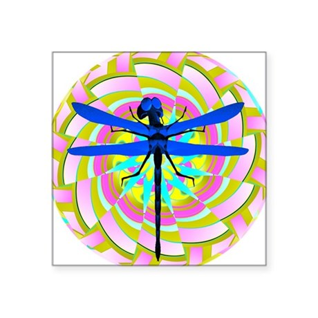 "dragonfly21a.png Square Sticker 3"" x 3"""