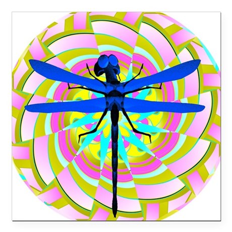 "dragonfly21a.png Square Car Magnet 3"" x 3"""