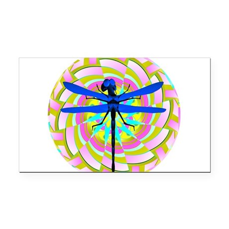 dragonfly21a.png Rectangle Car Magnet