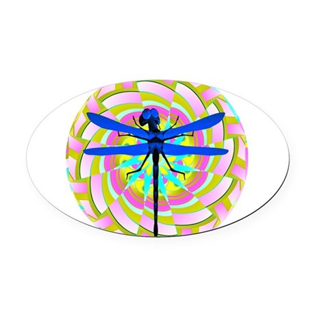 dragonfly21a.png Oval Car Magnet