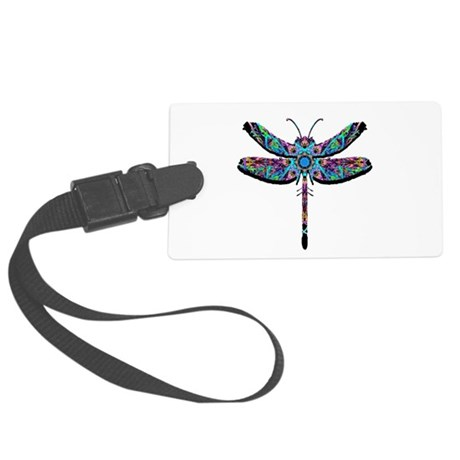 dragonfly22.png Large Luggage Tag