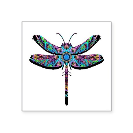 "dragonfly22.png Square Sticker 3"" x 3"""