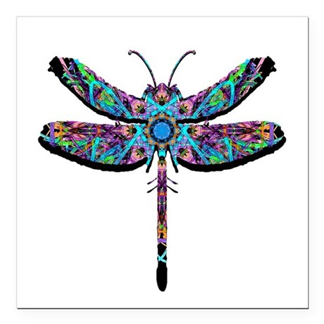 "dragonfly22.png Square Car Magnet 3"" x 3"""