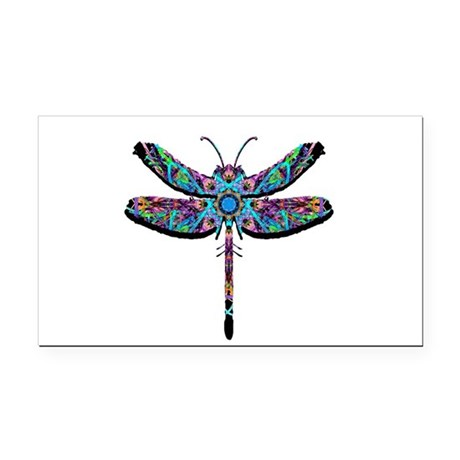 dragonfly22.png Rectangle Car Magnet