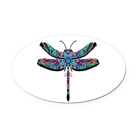 dragonfly22.png Oval Car Magnet