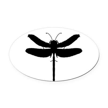 dragonfly4.png Oval Car Magnet