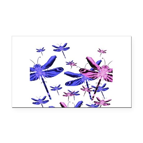 dragonfly4d.png Rectangle Car Magnet