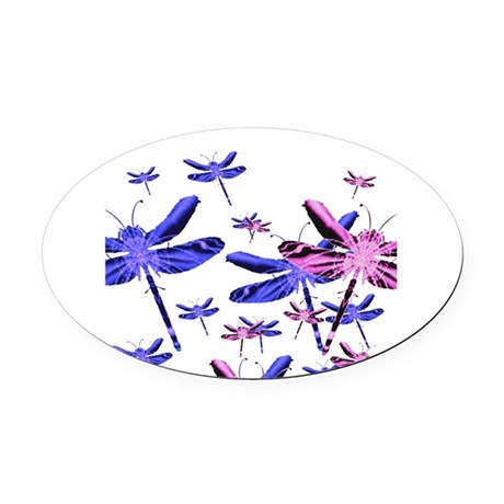 dragonfly4d.png Oval Car Magnet