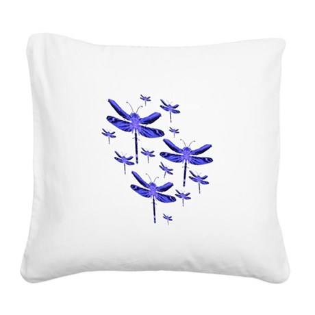 dragonfly4c.png Square Canvas Pillow