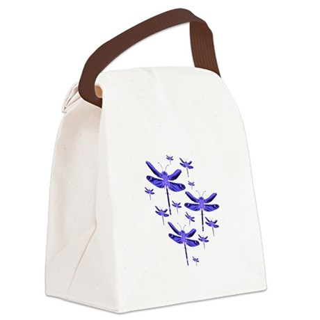 dragonfly4c.png Canvas Lunch Bag