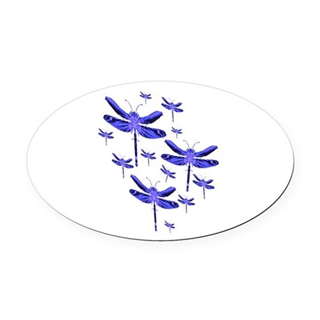 dragonfly4c.png Oval Car Magnet