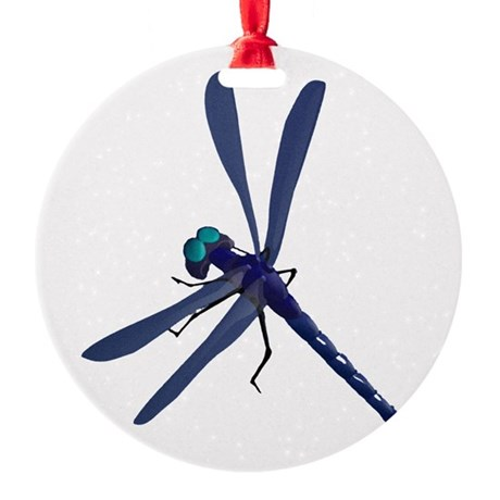 dragonfly7.png Round Ornament