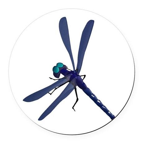 dragonfly7.png Round Car Magnet