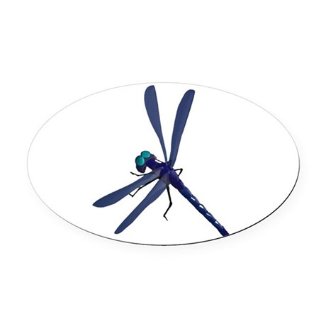 dragonfly7.png Oval Car Magnet