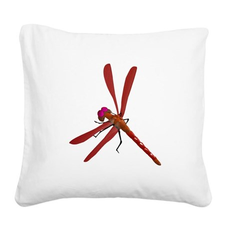 dragonfly7b.png Square Canvas Pillow