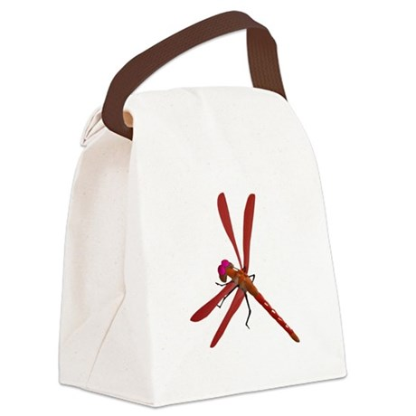 dragonfly7b.png Canvas Lunch Bag