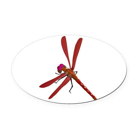 dragonfly7b.png Oval Car Magnet