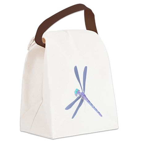 dragonfly7c.png Canvas Lunch Bag