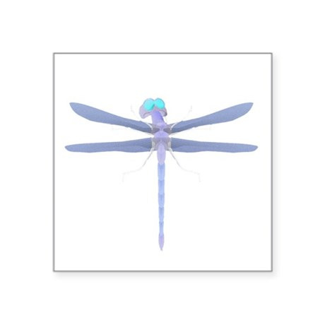 "dragonfly8.png Square Sticker 3"" x 3"""