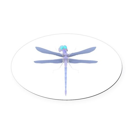 dragonfly8.png Oval Car Magnet