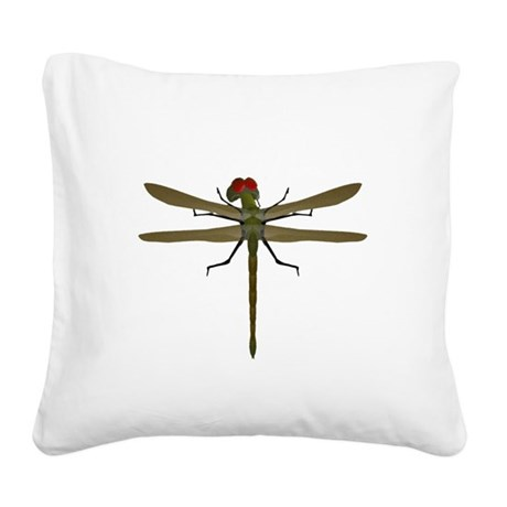dragonfly8a.png Square Canvas Pillow