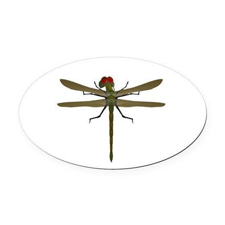 dragonfly8a.png Oval Car Magnet