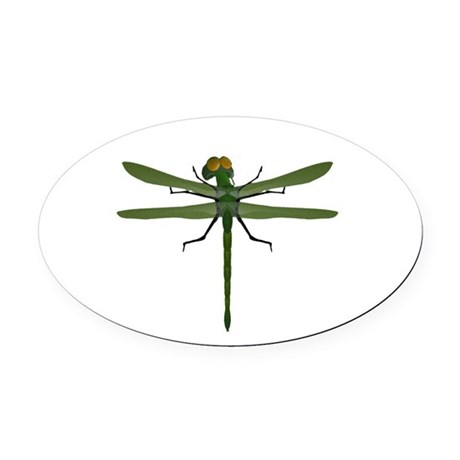 dragonfly8c.png Oval Car Magnet