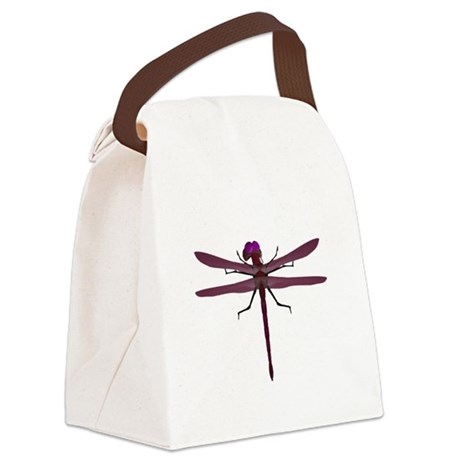 dragonfly8e.png Canvas Lunch Bag