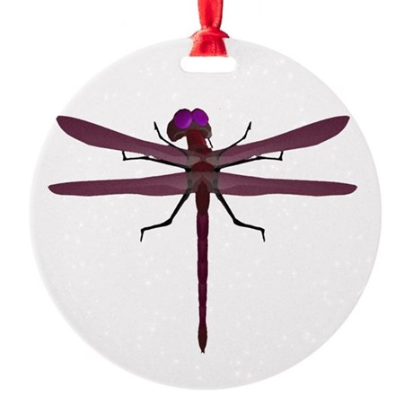 dragonfly8e.png Round Ornament