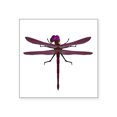 "dragonfly8e.png Square Sticker 3"" x 3"""
