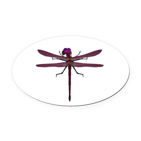 dragonfly8e.png Oval Car Magnet