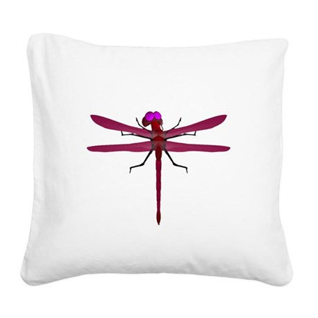 dragonfly8f.png Square Canvas Pillow