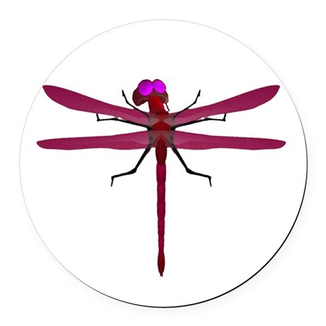 dragonfly8f.png Round Car Magnet