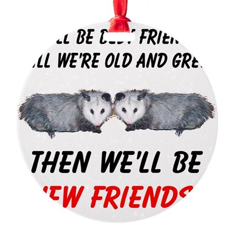 bestfriends5.png Round Ornament